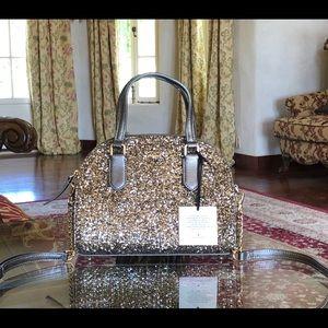 NWT kate spade glitter mini Reiley handbag